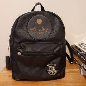 Harry Potter Female Black Leather Backpack